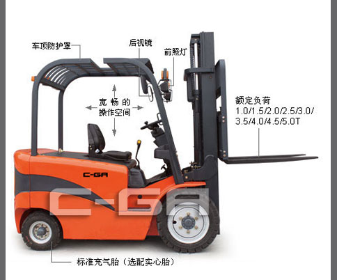 四支點平(ping)衡重式(shi)蓄電動叉車