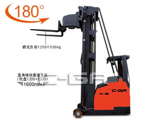 座駕(jia)式(shi)三向(xiang)電動叉車(貨叉轉向(xiang)180-176)